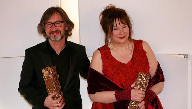 La actriz belga Yolande Moreau y el director francés Martin Provost