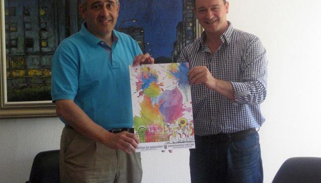 El alcalde José Antonio Mendive y el concejal Pablo Arcelus