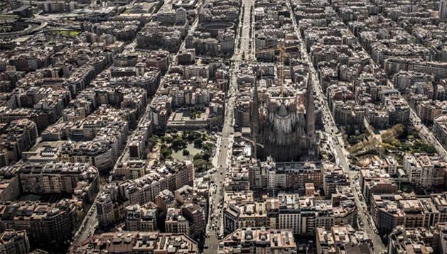 Una vista aérea de la Sagrada Familia