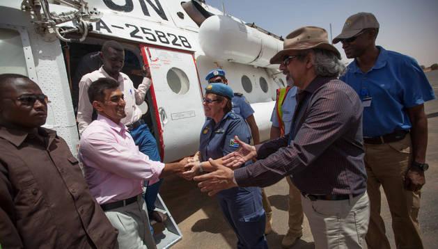 Delegación de la ONU llegando a Sudán del Sur