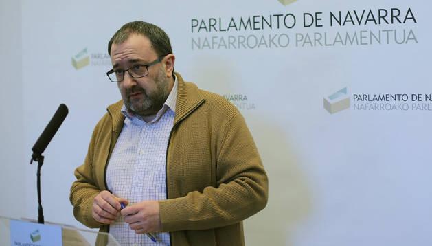 El dirigente de IUN, José Miguel Nuin