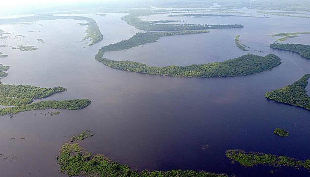 Archipiélago fluvial de Anavilhanas en el Amazonas