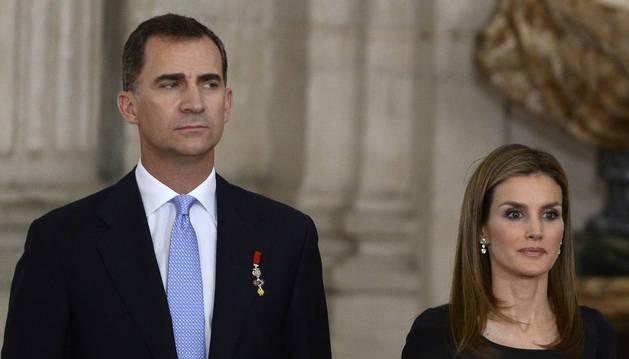 Los Reyes Felipe VI y Letizia.