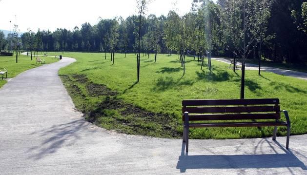 Parque de La Runa, en la Rochapea