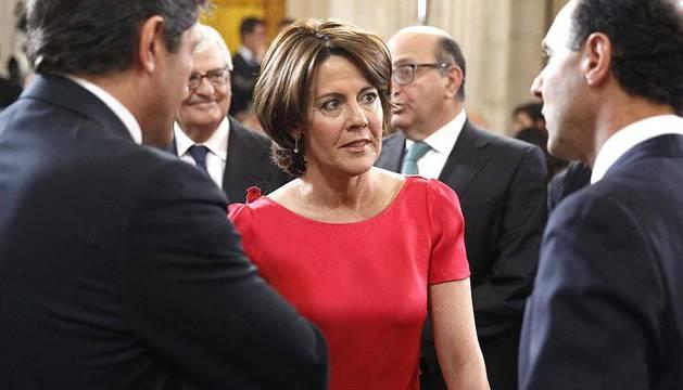 La presidenta navarra ha estado presente en la coronación de Felipe VI.