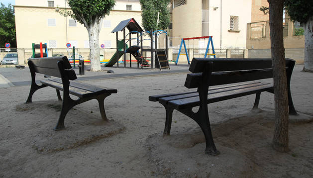 Una imagen del patio del colegio
