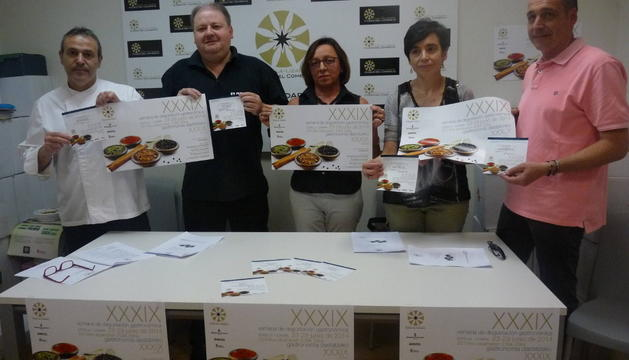 Desde la izquierda, Jesús Astarriaga, Jorge Ruiz, Ana Arribas, Loreto San Martín y Javier Riezu