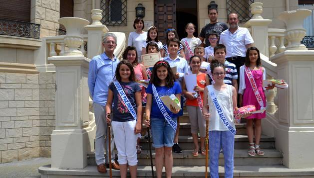 Las niñas estarán al frente de la  nueva corporación infantil de San Adrián