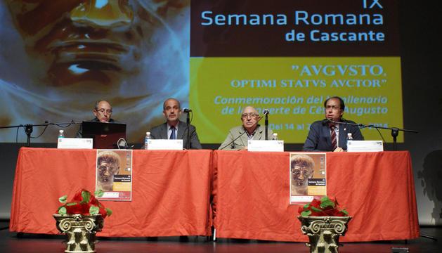 De izda. a dcha., Santiago Rueda, Alberto Catalán, José Gómara y Javier Andreu.