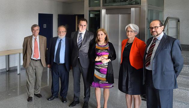 De la Concha, Khayyat, Morcillo, Poncela, la vicepresidenta Goicoechea, y Rodriguez.