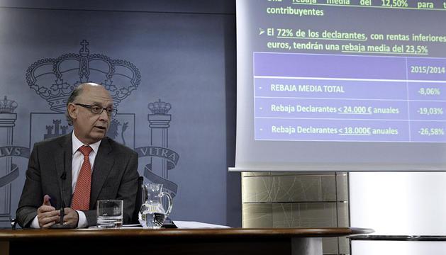 El ministro Montoro explica la rebaja del IRPF.