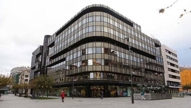 Sede central de Caja Navarra en Pamplona