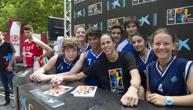 Amaya Valdemoro, en Pamplona para promocionar el Mundial