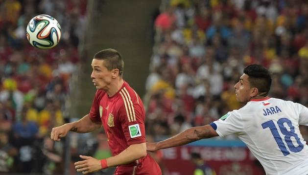 Fernando Torres, en el partido contra Chile