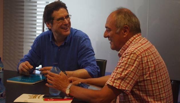 Los miembros de la comisión Javier Zabaleta, Luis Ibero, Marino Zulet, Jesús Dronda y Pedro Zudaire