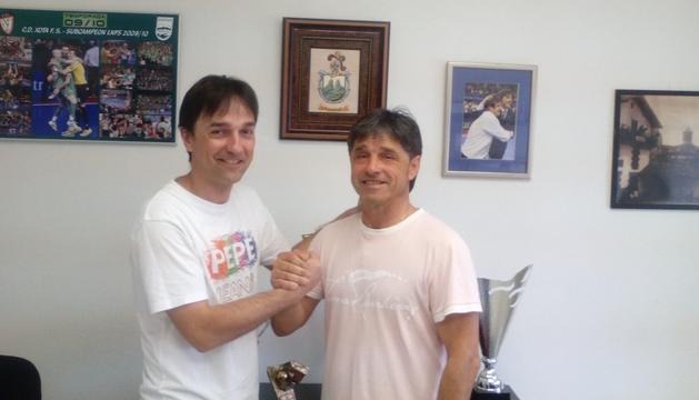 Imanol y 'Tatono' Arregui, entrenador y presidente del Magna Xota
