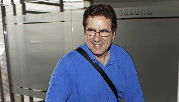 Javier Zabaleta, a su llegada a El Sadar el pasado lunes