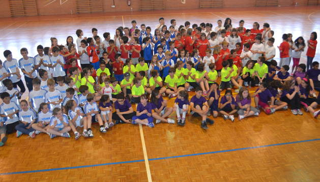 Equipos participantes en la jornada que tuvo lugar en el pabellón deportivo de Mendavia citados por la mancomunidad Ribera Alta