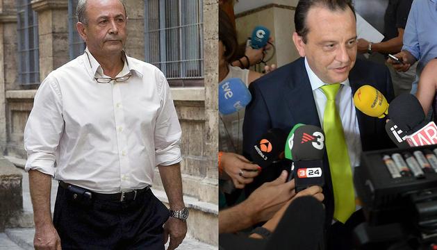 El juez José Castro (izda.) y el fiscal Pedro Horrach