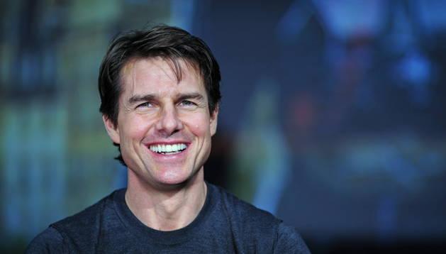 Tom Cruise durante la presentación en Tokio de 'Al filo de mañana'