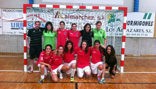 Plantilla del Cantera infantil femenino, tercero en el campeonato de España.