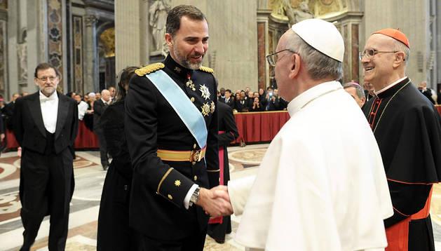 Felipe y el papa Francisco, en 2013