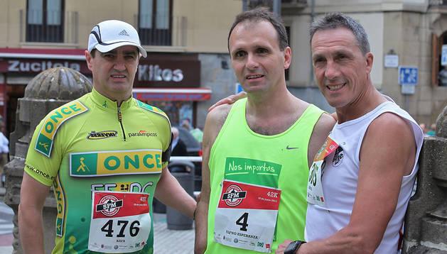 De izquierda a derecha, Rafael Ledesma, Carlos Gaspar y Miguel Ángel Castillo