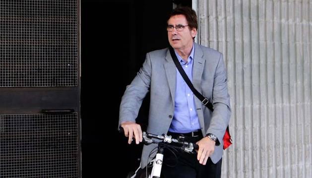 Javier Zabaleta abandona El Sadar el pasado viernes