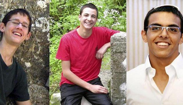 Los tres jóvenes estudiantes israelíes desaparecidos