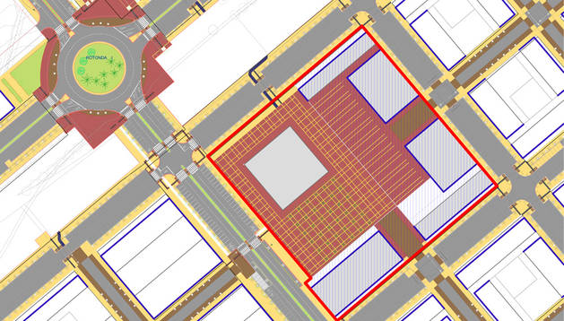 Mapa de la futura plaza.