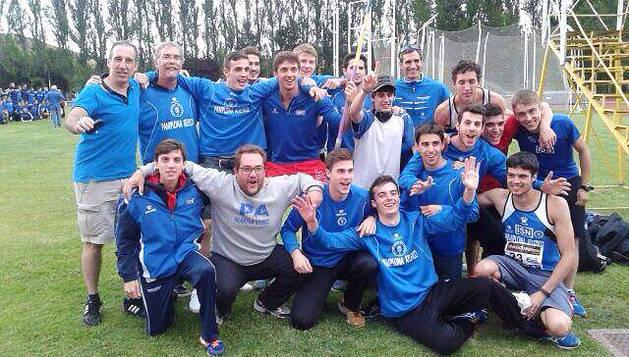 Integrantes del equipo masculino que compitió en Burgos.