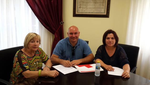 Elena San Vicente, Ismael Pastor y Catalina De la Torre.