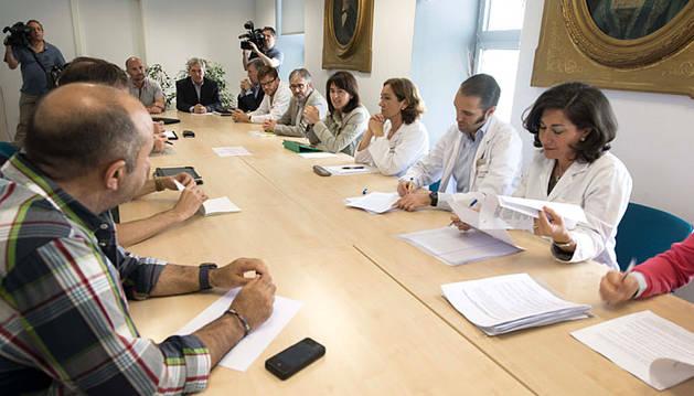 La consejera Vera preside la reunión de coordinación del dispositivo especial de Sanfermines