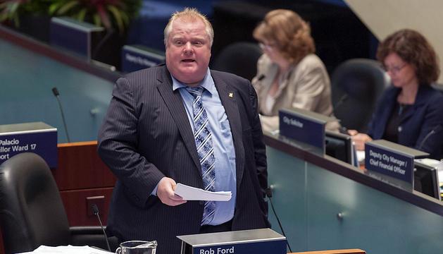 Imagen de archivo datada el 21 de mayo del 2013 del alcalde de Toronto Rob Ford