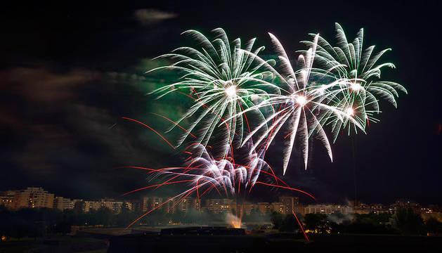Los fuegos artificiales, un clásico en las noches sanfermineras