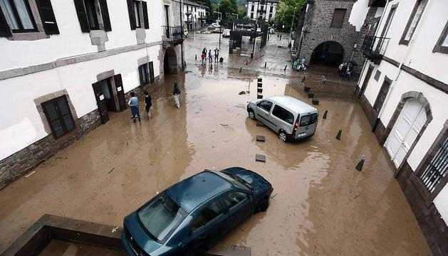 Inundaciones en el valle de Baztan
