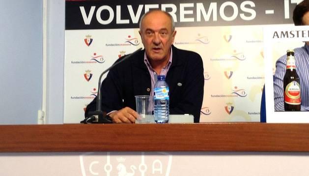Luis Ibero, durante la rueda de prensa