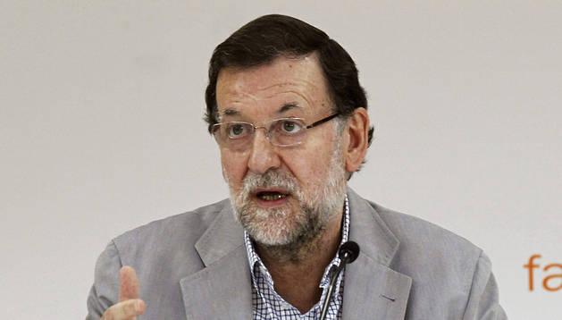 El presidente del Gobierno, Mariano Rajoy, durante la clausura del Campus FAES 2014