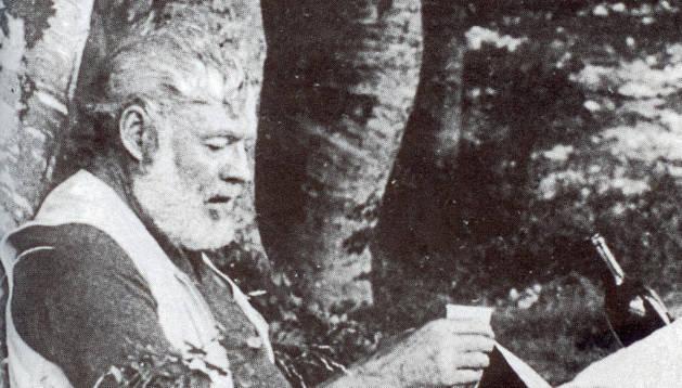 Retrato de Hemingway