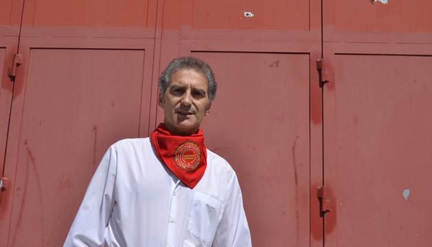 Florentino Gallego, en la plaza de toros, donde pone música con la banda del maestro Bravo