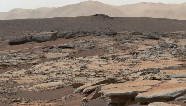 Vista de la superficie de Marte,