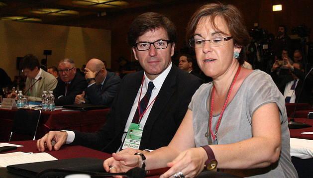 Juan Moscoso del Prado, en una reunión del Consejo Mundial de la Internacional Socialista en Méjico