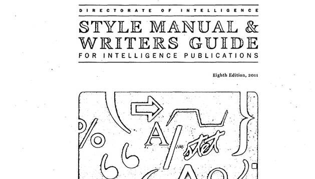 Imagen de la portada del libro de estilos de la CIA filtrado en internet