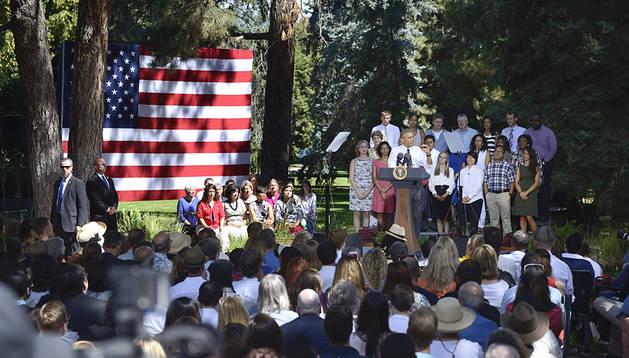El presidente norteamericano, Barack Obama, durante un discurso en Colorado