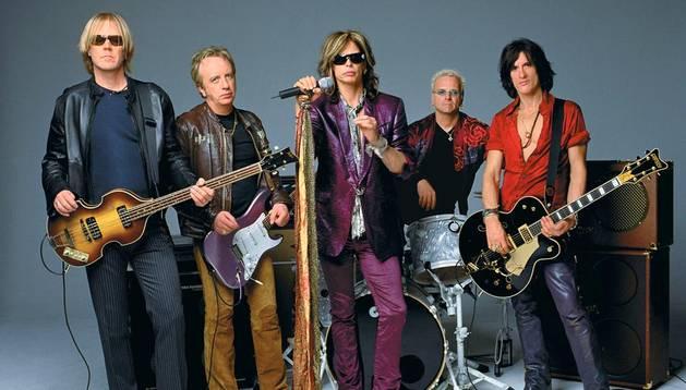 Los componentes de la banda estadounidense Aerosmith