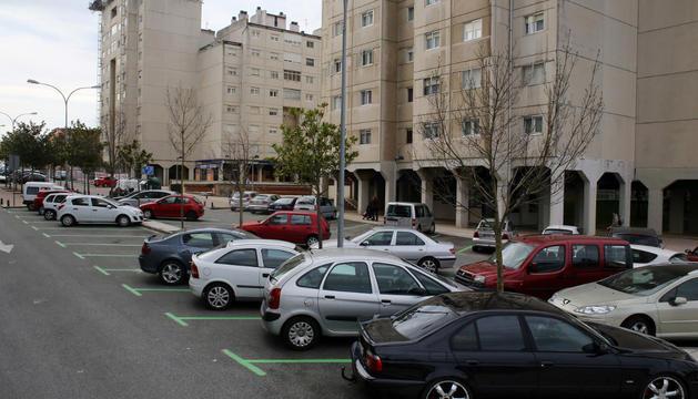 Aspecto de la zona verde de Barañáin.