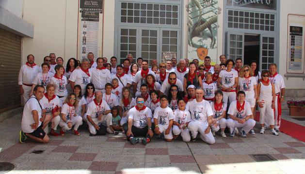 Parte de la delegación lodosana que el pasado fin de semana se trasladó a Benavente (Zamora).