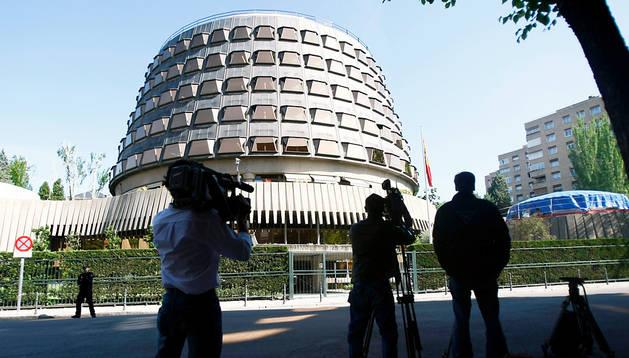 Sede del Tribunal Constitucional en Madrid, que debe pronunciarse sobre las leyes navarras recurridas.