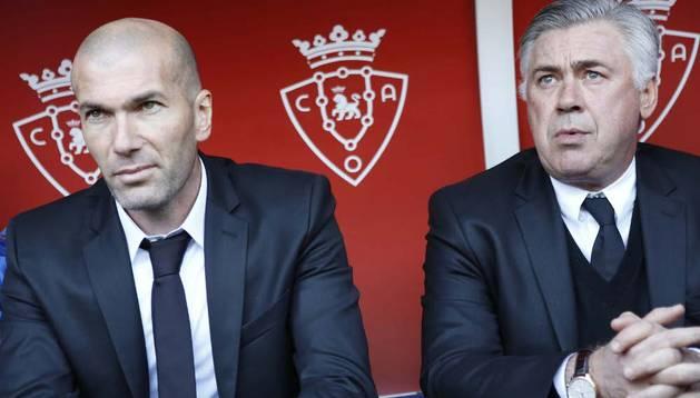 Zinedine Zidane, en su última visita al Sadar