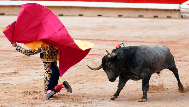 Un momento de la corrida de Adolfo Martín